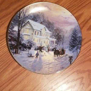 Thomas kinkade plate  sleighride home #1052/E
